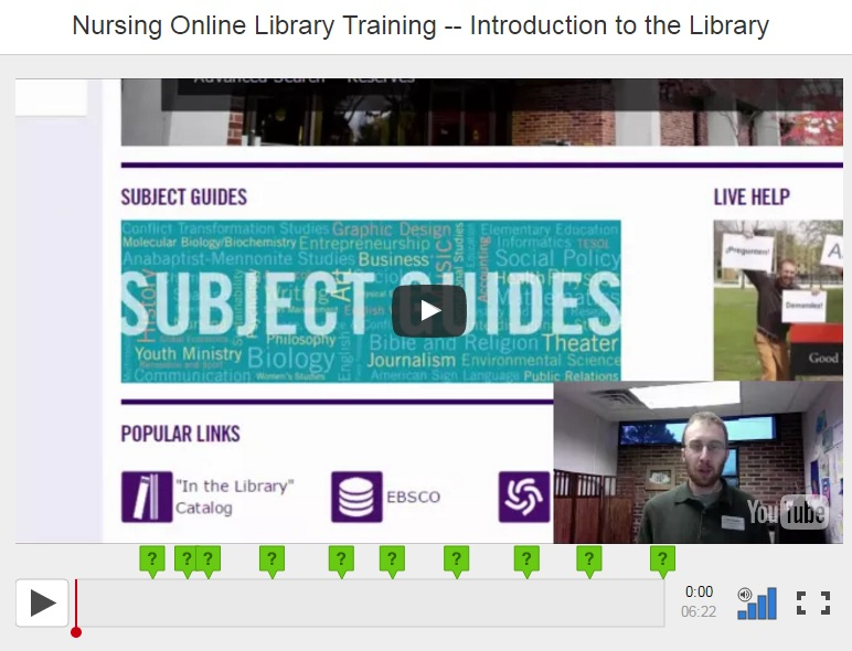 Nursing Online Library Training - Introduction to the Library